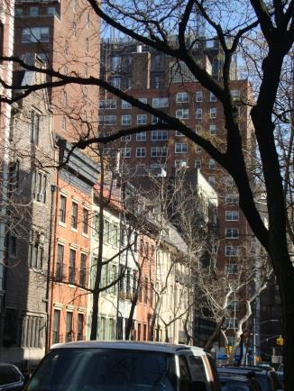 Looking down 19th Street (Lincoln Kirstein) toward 151 E 19th Street